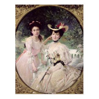 Madame Collas et sa Daughter, Giselle, 1903 Carte Postale