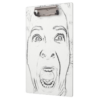 Madame criarde hilare Face Print Porte-bloc