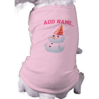 Madame customisée Snowman Cartoon T-shirt Pour Chien