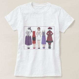 Madame d'art déco du T-shirt de papier de poupée