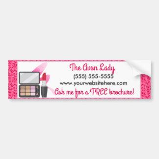 Madame d'Avon, cosmétiques roses de léopard Autocollant De Voiture