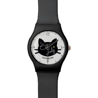 Madame de chat montres bracelet