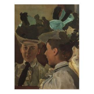 Madame de Konstantin Somov- au miroir Carte Postale
