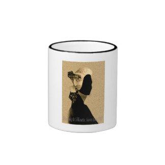 Madame de Krio en silhouette, Sierra Leone 1787 Tasse À Café