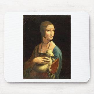 Madame de la peinture de Da Vinci original avec Tapis De Souris