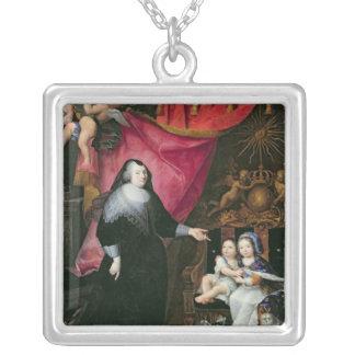 Madame de Lansac et les enfants de la France Pendentif Carré