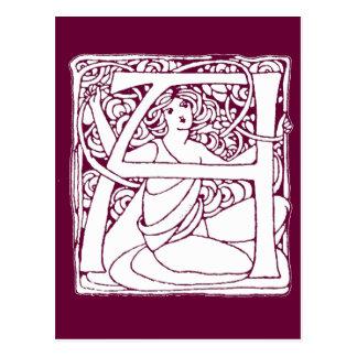 Madame de lettre carte postale