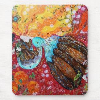 Madame de nature et les saisons de l'année tapis de souris