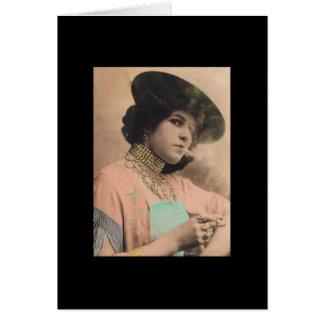 Madame de tabagisme victorienne Postcard Carte De Vœux