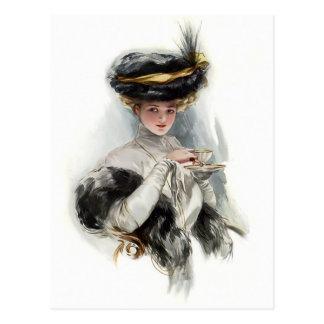 Madame de thé d'après-midi cartes postales