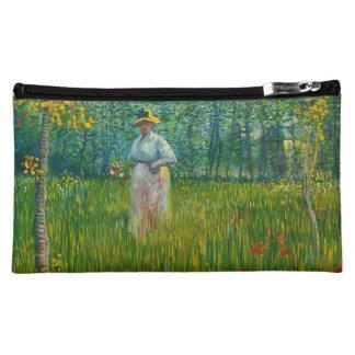 Madame de Van Gogh dans le jardin sur le sac Pochettes À Maquillage