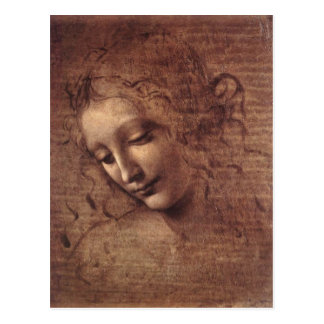Madame des cheveux Disheveled Carte Postale