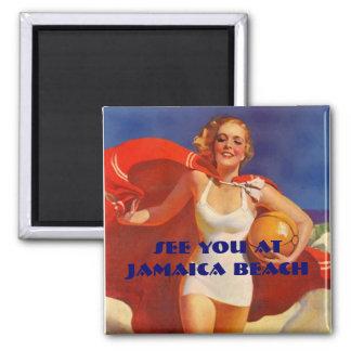 Madame élégante At The Beach de maillot de bain de Aimant