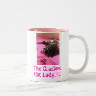 Madame fière de chat de 2 b mug bicolore