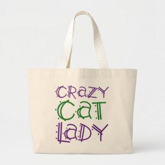 Madame folle de chat grand sac