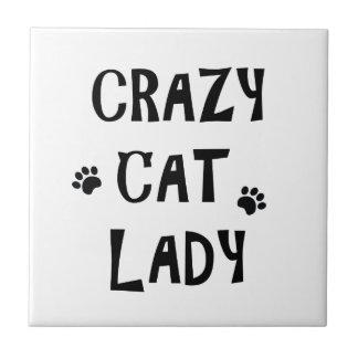 Madame folle de chat petit carreau carré