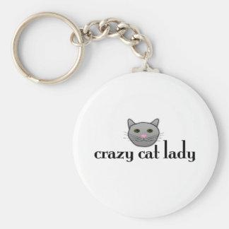 Madame folle de chat porte-clés