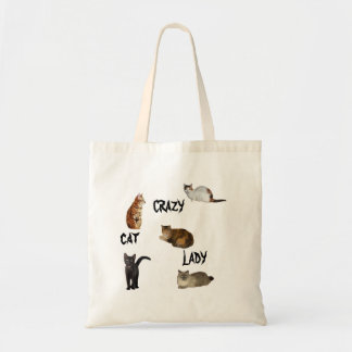 Madame folle de chat sac de toile