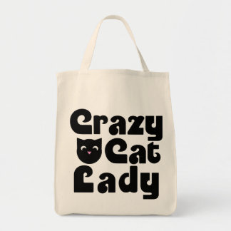 Madame folle de chat sacs en toile