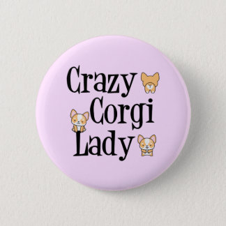 Madame folle de corgi badge