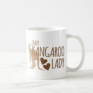 Madame folle de kangourou mug blanc