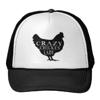 Madame folle mignonne de poulet casquette trucker