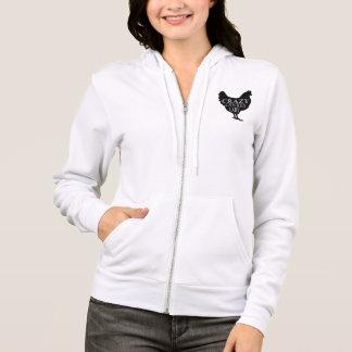 Madame folle mignonne de poulet veste à capuche