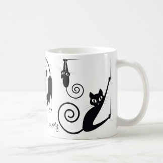 Madame folle Mug de chat, avec les chats élégants