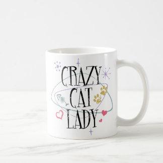 Madame folle Mug de chat de rétro style