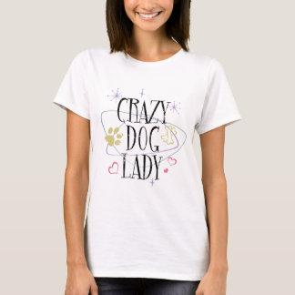 Madame folle T-Shirt de chien de rétro style