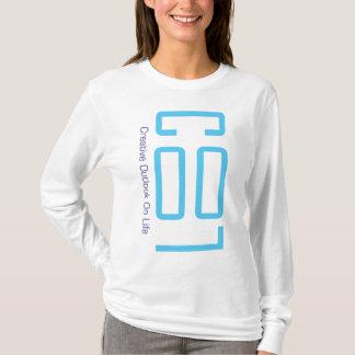 Madame FRAÎCHE Hoodie de logo de bleus layette T-shirt