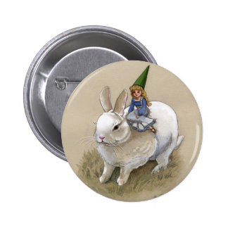 Madame Gnome et lapin Badges