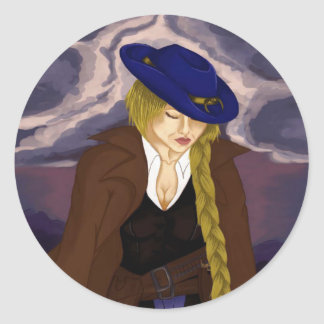 Madame Gunslinger Sticker Rond