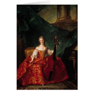 Madame Henriette De France devant le tribunal Carte De Vœux
