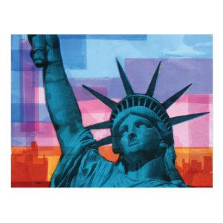 Madame Liberty Carte Postale