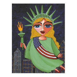 Madame Liberty - carte postale de vol