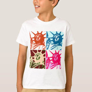 Madame Liberty New York City d'art de bruit T-shirt