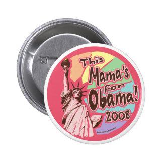 Madame Liberty Obama maman Button Badge Rond 5 Cm