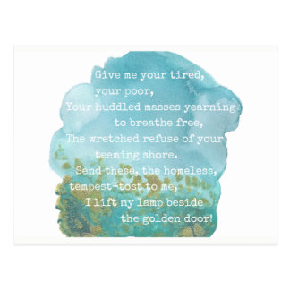 Madame Liberty Poem Postcard Carte Postale