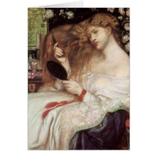 Madame Lilith par Rossetti, Portait victorien Carte