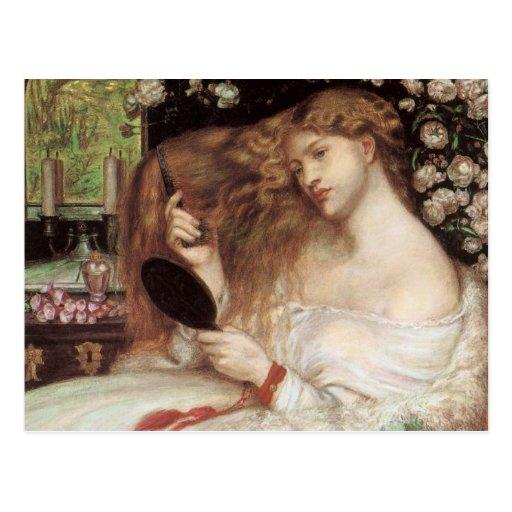 Madame Lilith par Rossetti, Portait victorien Cartes Postales