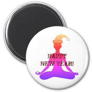 Madame Magnet de méditation de yoga de bonne année