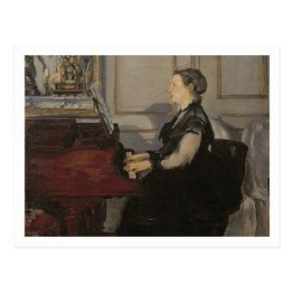 Madame Manet au piano, 1868 de Manet | Carte Postale