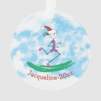 Madame PERSONNALISÉE Runner de vacances de Noël de