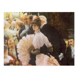 Madame politique par James Tissot, cru victorien Carte Postale