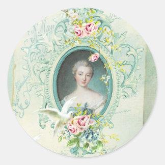 Madame Pompadour Passionannte Singing Bird Adhésif