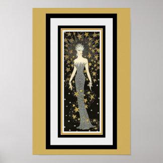Madame Poster d'étoile d'art déco
