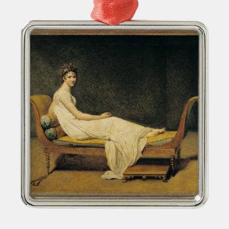 Madame Recamier, 1800 Ornement Carré Argenté