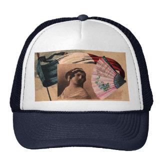 Madame romantique de drapeau de fan chic française casquettes de camionneur
