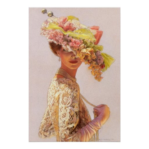Madame romantique Victorian Decor Poster